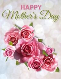 Mother's Day Flyer Template Folheto (US Letter)