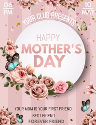 Mother's day flyers Volante (Carta US) template
