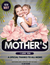 Mother's day flyers 传单(美国信函) template