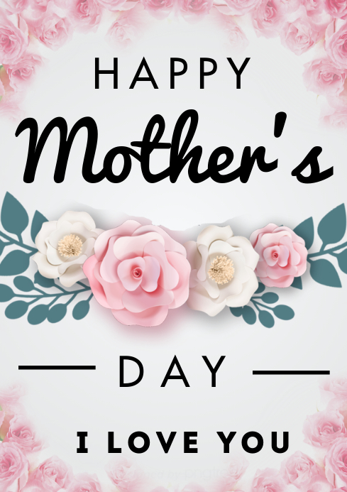 Mother's Day flyers A3 template