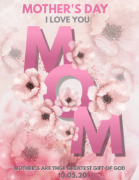 Mother's day flyers Folheto (US Letter) template