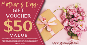 Mother's Day Gift Voucher Template Facebook Shared Image