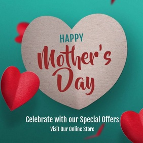Mother's Day Greeting Ad Quadrat (1:1) template