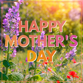 mother's day greeting card advert square instagram flowers