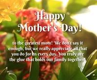 Mother's day greeting Mittelgroßes Rechteck template