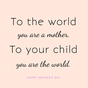 Mother's Day Greeting Message Template