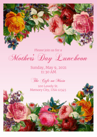 Mother's Day Luncheon A6 template
