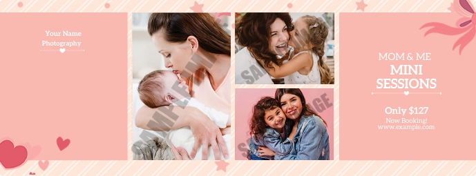 Mother's day mini session Zdjęcie w tle na Facebooka template