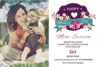 Mother's day mini session Этикетка template