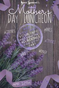 Mother's Day Mom Lavender Purple Flowers Mother Wood Spring