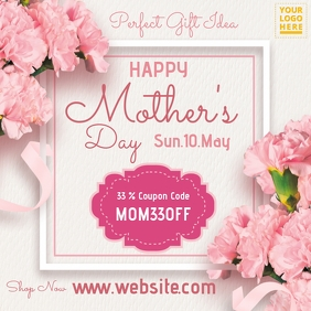 Mother's Day Online Retail Design Instagram Post template