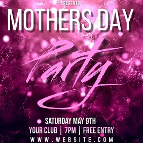 MOTHER'S DAY party ad TEMPLATE