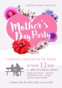 Mother's Day Party Flyer Template
