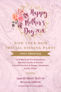 Mother's Day Party Poster Template