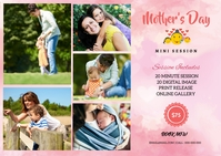 Mother's day Photography Mini Session Briefkaart template