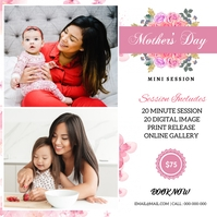 Mother's day Photography Mini Session Label template