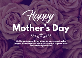 mother's day postcard 2 template