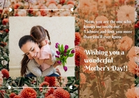 mother's day postcard template