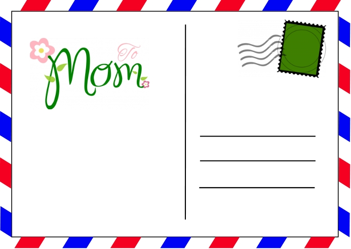 Mother's Day Postcard Postkort template