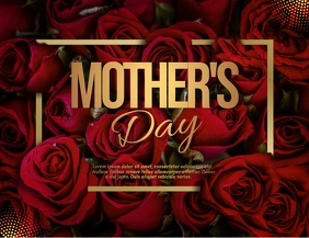 mother's day poster, mother's day ใบปลิว (US Letter) template