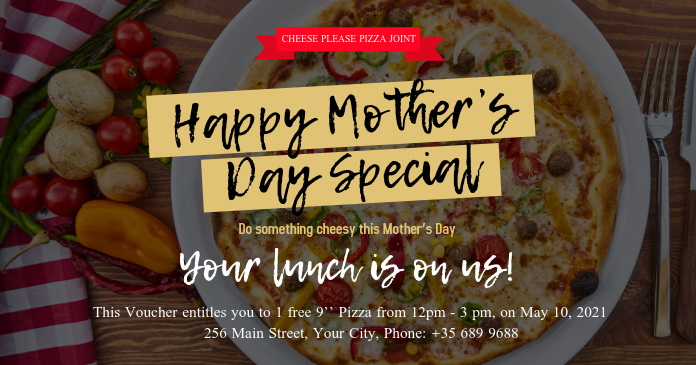 Mother's Day Restaurant Deal Gift Certificate