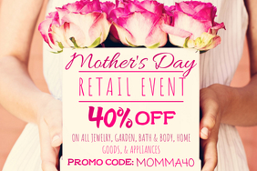 Mother's Day Retail Business Flowers Gift Mom Roses Promo