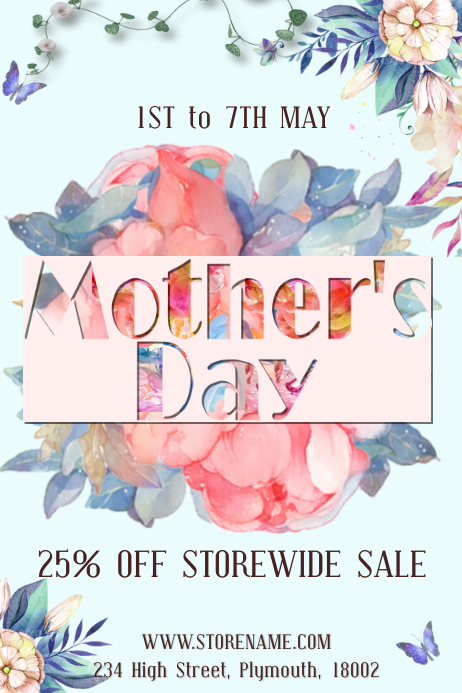 Mother S Day Retail Sale Poster Template Postermywall