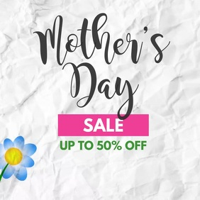 Mother's Day Sale 50% off flower video ad