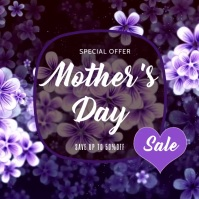 Mother's Day Sale Ad โพสต์บน Instagram template
