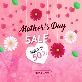 Mother's Day Sale Banner โพสต์บน Instagram template