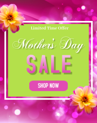 Mother's Day Sale Poster/Wallboard template