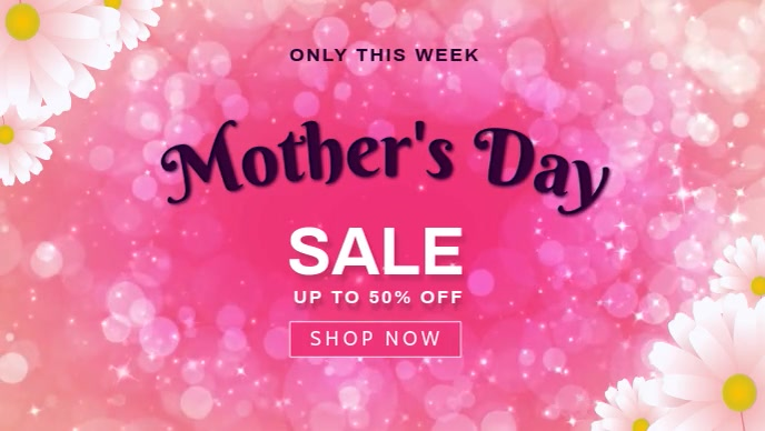 mother's day sale Vídeo de portada de Facebook (16:9) template