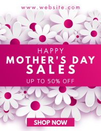 mother's day sale Ulotka (US Letter) template