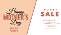 Mother's Day Sale Cartellino template