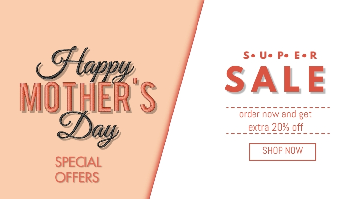 Mother's Day Sale Label template