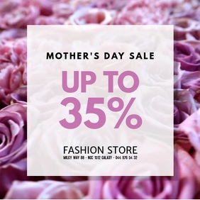 Mother's Day Sale Discount Cover Video Flower