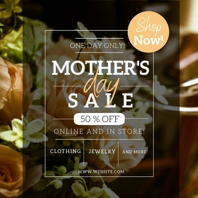 Mother's day Sale Event Flyer template