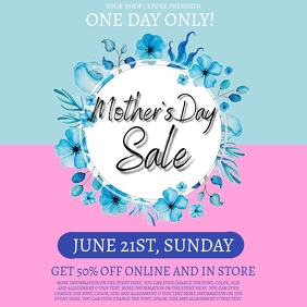 Mother's day Sale Event Flyer template Square (1:1)