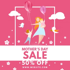 Mother's Day Sale Instagram Post template