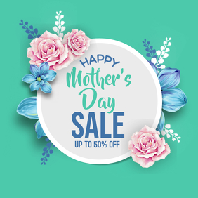 Mother's Day Sale Poster Instagram Promotion