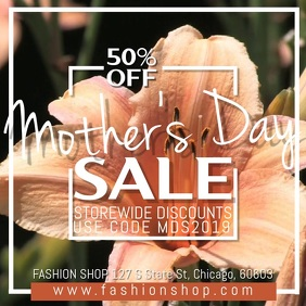 Mother's Day Sale Video Ad Template