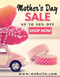 mother's day sales flyer 传单(美国信函) template