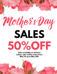 Mother's day sales flyer template