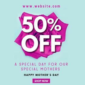 mother's day sales instagram post advertiseme template