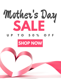 mother's day sales template Pamflet (Letter AS)