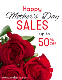 mother's day sales up to 50% off design Pamflet (VSA Brief) template