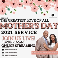 MOTHER'S DAY SERVICE Church Event Template Квадрат (1 : 1)