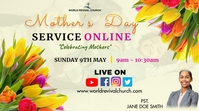 Mother's day service Digitale display (16:9) template