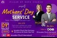 Mother's day service Poster template