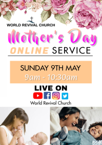 Mother's day service A3 template